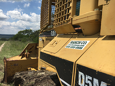 Bulldozing services from Ranch Co serving the Texas Hill Country